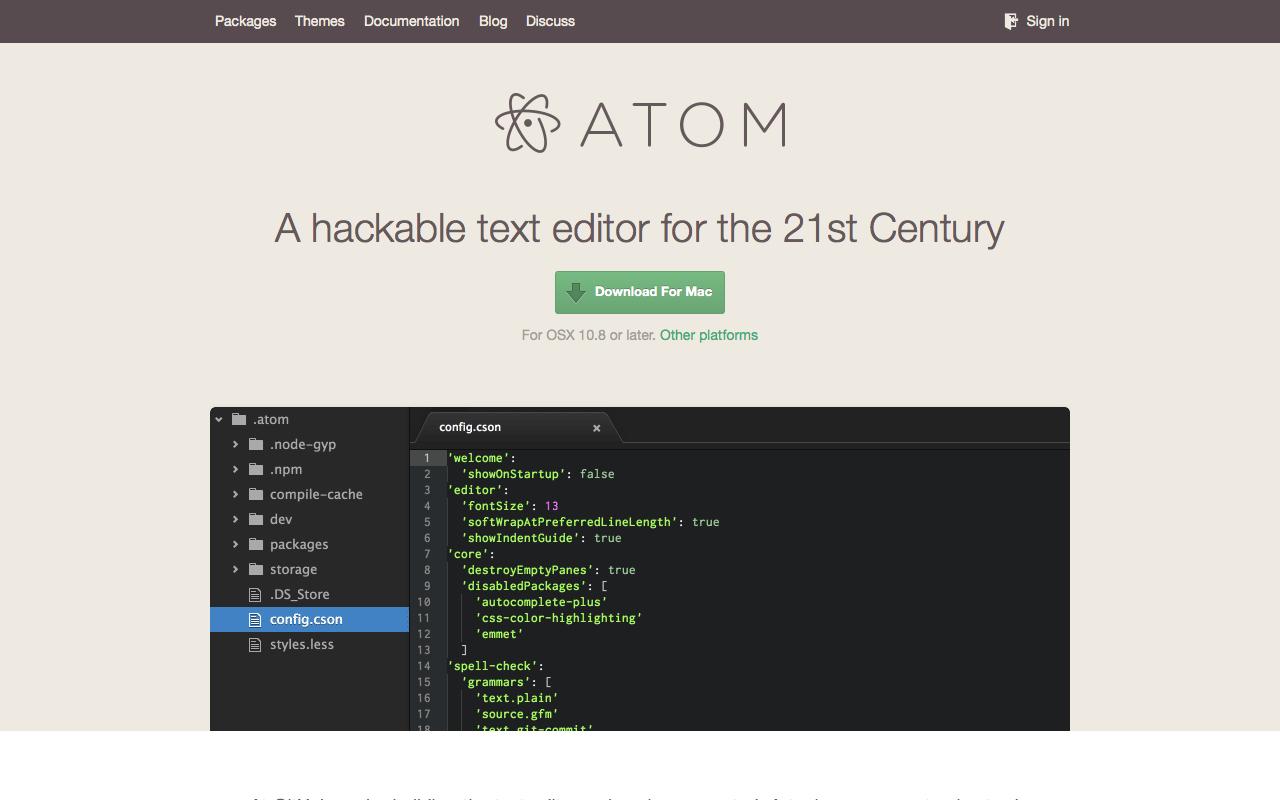 Atom Preview