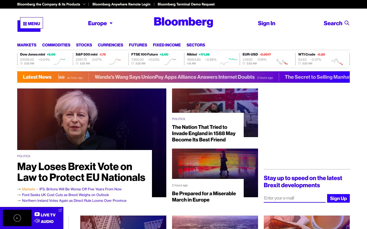 Bloomberg Preview