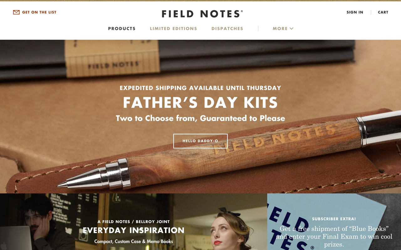Fieldnotesbrand Preview