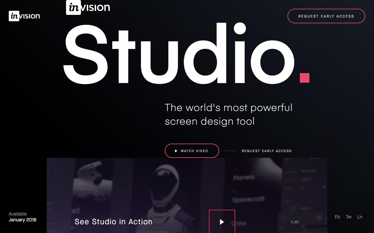 Invision Studio Preview