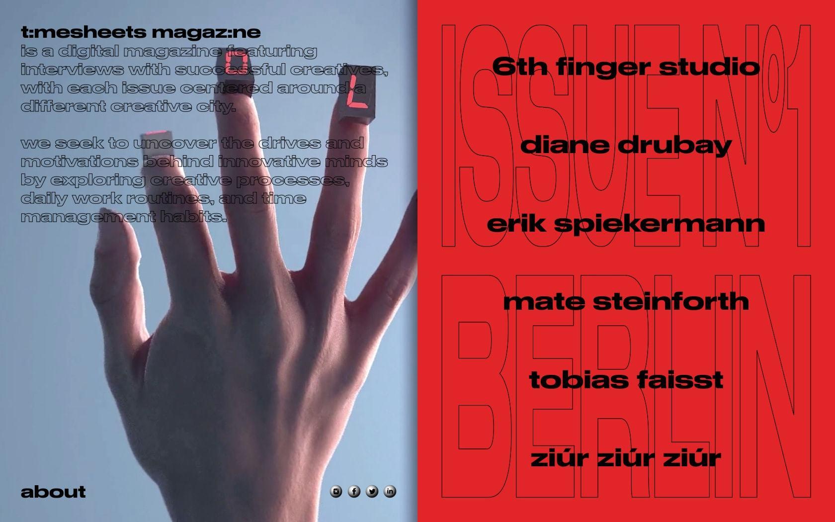 Timesheets Magazine 01