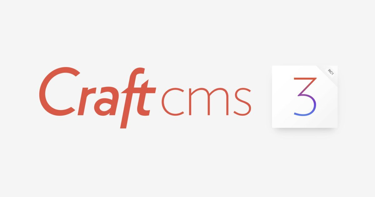 Craft Cms 3 Rc 1