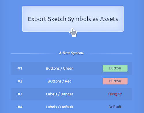 Export Sketch Symbols Assets Preview Opt