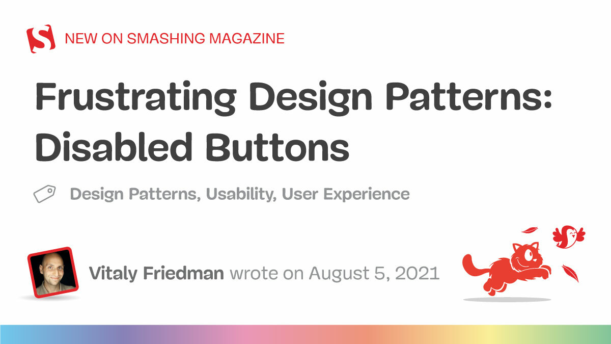 Frustrating design patterns disabled buttons