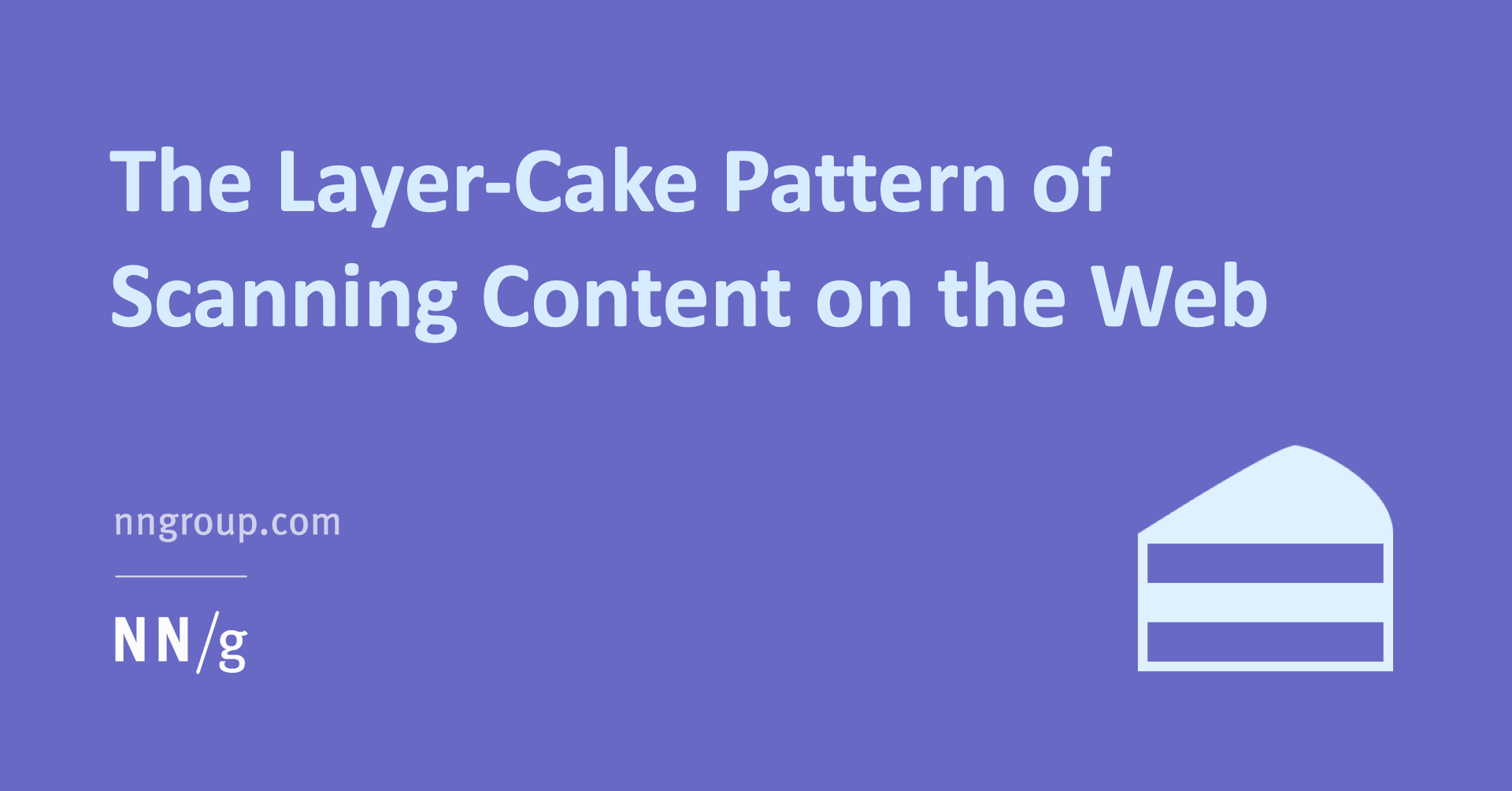 Layer-cake-pattern-scanning