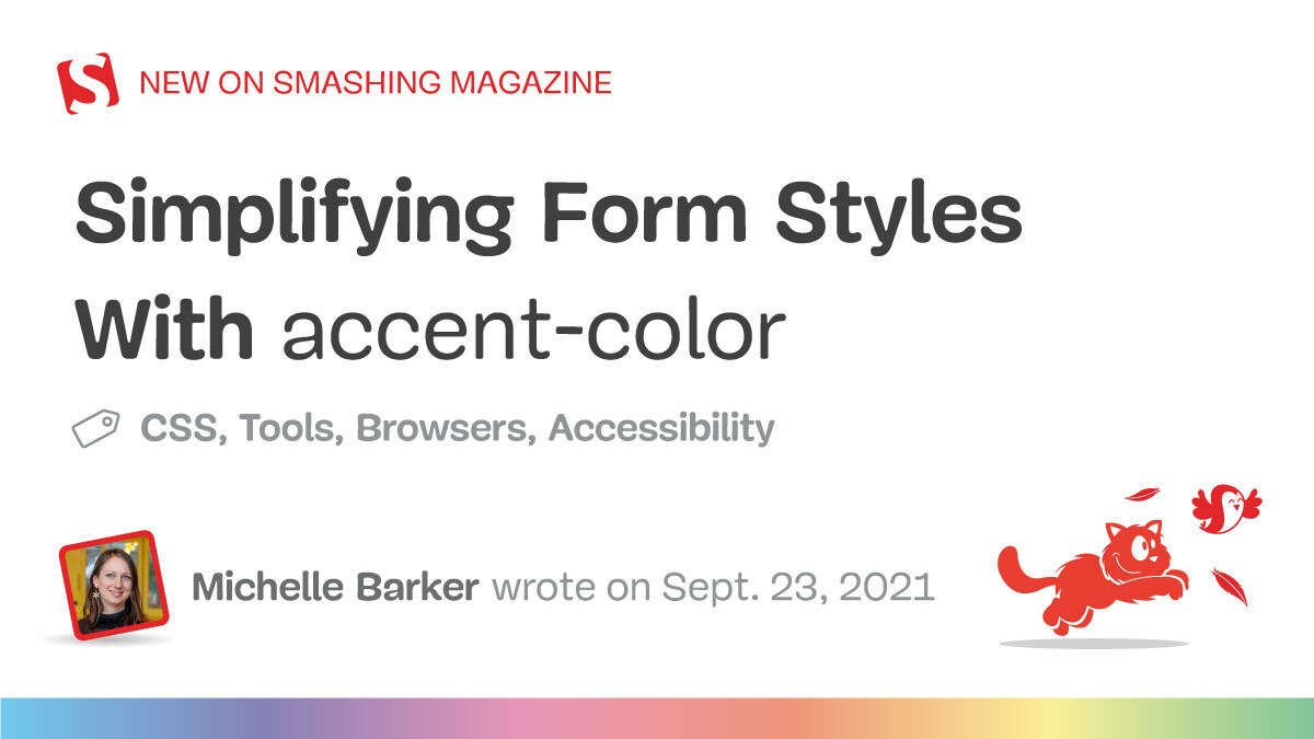 Simplifying form styles accent color