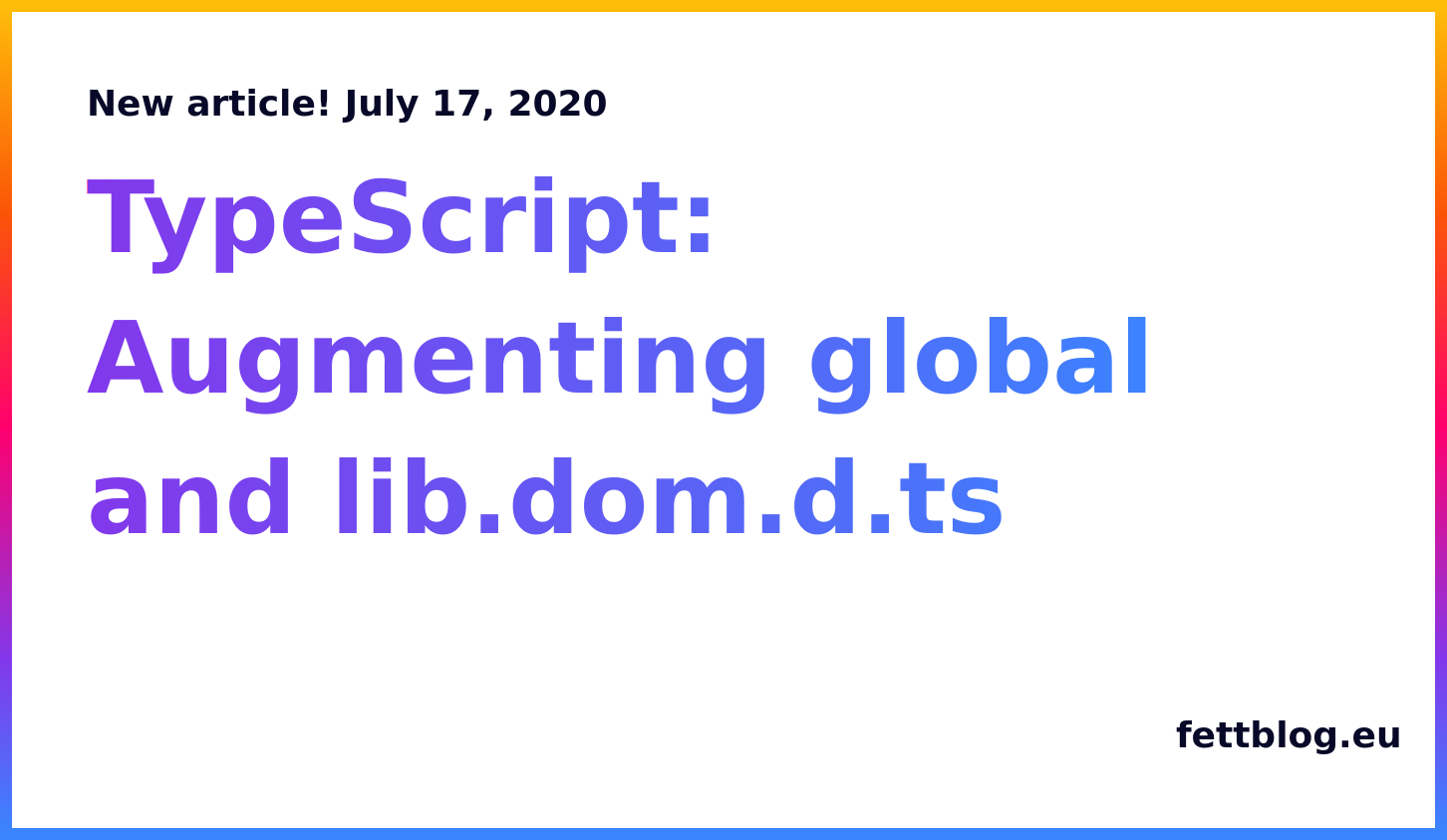 Typescript augmenting global lib dom